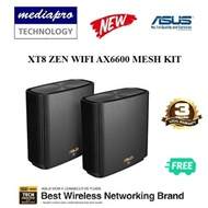 ASUS XT8 ZEN WIFI AX6600 Tri Band AiMesh Wi-Fi system Pack of 2 - 3 Year Asus Singapore Warranty