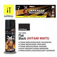 29 - 109A FLAT BLACK - HITAM MATI -SAMURAI SPRAY PAINT STANDARD COLOUR (SABAH SARAWAK NOT AVAILABLE ) READY STOCK