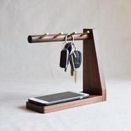 玄關鑰匙 黃銅鑰匙掛鉤L型榫卯結構 玄關收納