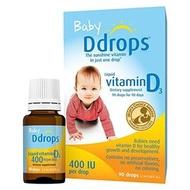 美國進口 Ddrops 加拿大 嬰兒 維他命 D3 滴露 Liquid D3 滴劑 400 IU 預購 現貨 維他命【BA0006】
