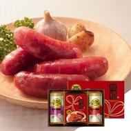 【野味食品】黑橋牌厚禮敦情禮盒(內含香腸600g/包,肉鬆270g/罐*2,口味可搭配)(附贈禮盒禮袋)