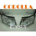 ●○RUN SUN 車燈,車材○● 全新 TOYOTA 豐田 93 94 95 96 97 COROLLA 卡羅拉 美規晶鑽角燈