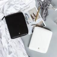 【萬安爾】kinbor手帳本商務型記事本皮質日記本拉鏈包賬本創意手帳A5