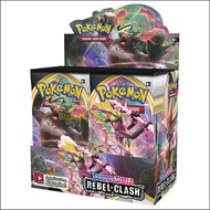 2020ใหม่ล่าสุด324Pcsการ์ดPokemon TCG:Sword & Shield Rebel Clash Booster Box Tradingเกม