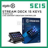 Elgato Stream Deck 15 LCD Keys Live Content Creation Controller Customizable OBS Studio Streamlabs Twitch YouTube