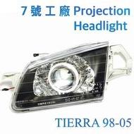 7號工廠 TIERRA 魚眼大燈不缺零件回家直上 ACTIVA / LIFE W6 5D 5門 98-05 福特FORD