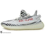 2017 版本 限量發售 嘻哈歌手 Kanye West 設計 adidas YEEZY BOOST 350 V2 ZEBRA SPLV-350 低筒 白黑 斑馬 紅字 PRIMEKNIT 飛織鞋面 (CP9654) !