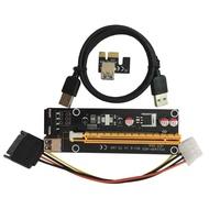 BGD PCI-E PCI Express 1Xถึง16X Riserการ์ดUSB 3.0สายSATAถึง4Pin IDEสายไฟMolex Powerสำหรับเครื่องขุดแร่BTC