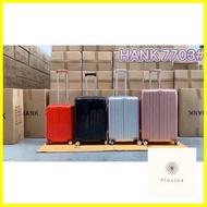 กระเป๋าเดินทาง ร้านแนะนำHANK 7703 กระเป๋าเดินทาง กระเป๋าเดินทางซิป กระเป๋าแฟชั่น กระเป๋าเดินทางล้อลาก วัสดุ PC 20/24/28นิ้ว luggage bag suitcase