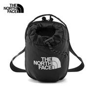 【THE NORTH FACE】北面男女款黑色抽繩休閒單肩包