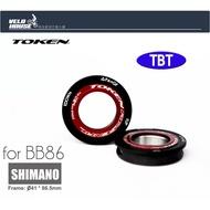 ★飛輪單車★TOKEN BB86PS-TBT壓入式BB-陶瓷培林SHIMANO BB86車架(紅色)[39006576]