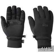【Outdoor Research】男性防風保暖內刷毛手套 可觸控 BACKSTOP SENSOR GLOVES 黑色 WINDSTOPPER #243172 旅形