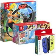 預購中 預計12月底交貨 台規主機 [SWITCH lite主機]  Nintendo Switch Lite [蒼響 / 藏瑪然特] 特仕機+健身環大冒險 + Nintendo Switch Joy-Con 控制器組(藍 / 電光黃)