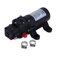 Camptemp 12V DC Fresh Water Pump with 2 Hose Clamps 12 Volt Diaphragm Pump Self Priming Sprayer Pump with Pressure Switch 4.5 L/Min 1.2 GPM 80 PSI Adjustable for RV Camper Marine Boat Lawn