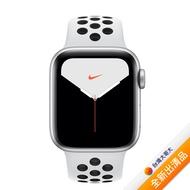 【贈品組】Apple Watch Nike+ Series 5 GPS + LTE 版_40mm銀色配白色 Nike 運動錶帶 (MX3C2TA/A)【全新出清品】