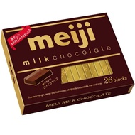 【Meiji 明治】牛奶巧克力盒裝-26枚(120g)