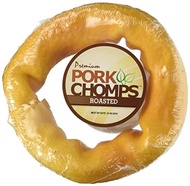(Scott Pet Products) Scott Pet Products 1 Count Pork Chomps Roasted Skin Bagel Treat, 6