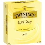 【TWININGS 唐寧茶包】皇家伯爵茶包 Earl Grey 100入/盒
