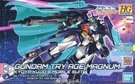 Bandai HG Gundam Try Age Magnum โมเดลกันดั้ม โมเดลหุ่นยนต์ ตัวต่อกันดั้ม หุ่นยนต์กันดั้ม กันพลา ทำสีเพิ่มเติมได้ Gunpla กันพลา กันดั้ม ของเล่น สะสม Toys Party