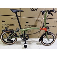 Pikes PAIKESI Foldable Bicycle Brompton Bike 3sixty Camp Royale Foldie