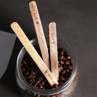 【ในสต็อก + ต้นฉบับ 100% 】ไม้ที่ทำด้วยมือกวนติด Acacia กาน้ำชากาแฟกวนแท่งไม้กวนเครื่องดื่มผสมกวนเครื่องมือก้าน