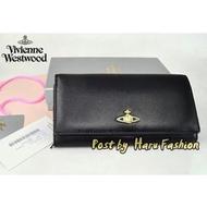 日本代購 全新正品 VIVIENNE WESTWOOD 多卡位 拉鍊 長款錢包  黑色 羊皮 真皮錢包 長夾