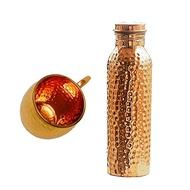 CopperSplash Copper Splash 30oz/900ml Pure Copper Water Bottle and 16oz hammered Moscow Mule Mug Bun