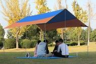300*300 CM 戶外活動野餐露營必備 遮陽防雨 多功能高級牛津布銀膠天幕 野餐地蓆