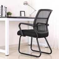 Mesh Back Stack Arm Chairs with Upholstered Fabric Seat and Ergonomic Lumber Support for Office School Church Guest Reception Mesh Side Reception Chair