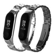 小米手環3代/4代 專用 不鏽鋼金屬錶帶(贈錶帶調整器)