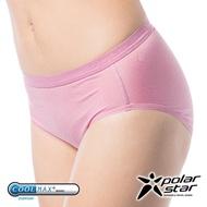 PolarStar 台灣 女 coolmax簧 涼感纖維 排汗快乾三角內褲『粉紅』P10169 中腰內褲 透氣 無痕 彈性 運動 抗菌 抗靜電