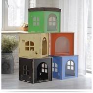 【寵物時尚窩】四季狗貓窩寵物換鞋凳可拆洗寵物兔子籠子房子木制寵物窩收納狗窩