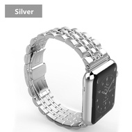 CRESTED สำหรับสายคาด Apple Watch 44 มม.40 มม.นาฬิกา 5 4 3 สำหรับ I สายนาฬิกาข้อมือ 42 มม./38 มม. correa สแตนเลส pulseira ผีเสื้อ watchband