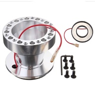 Silver Aluminum Steering Wheel 6-Hole Hub Adaptor For Civic