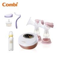 Combi 自然吸韻雙邊電動吸乳器 送手動配件組+240ml奶瓶