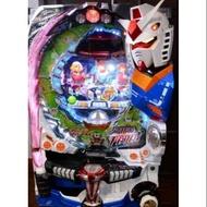 柯先生2013日本原裝CR FEVER機動戰士鋼彈(大型家用小鋼珠)鋼彈玩家收藏品,光是鋼彈機台就療癒夢幻~台灣少見,