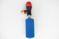 【意生】X-FREE CO2快速充氣打氣筒 美法嘴通用(附一氣瓶)CO2高壓打氣瓶 CO2有牙鋼瓶16g帶牙充氣瓶