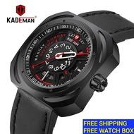 KADEMAN Mens Leather Watch Men Sports Jam Tangan Lelaki Original Waterproof Mens Watch 663