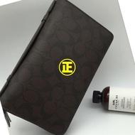 🔥🌟超低價coach男士手拿包 經典錢包 大容量錢包 卡包 零錢包 附購證93504/93240