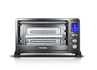 Toshiba AC25CEW-BS Digital Convection Oven, 6-Slice Bread/12-Inch Pizza, Black Stainless Steel