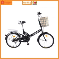 Folding bike woman light portable small wheel speed mini 20-inch 16 adult male adults.