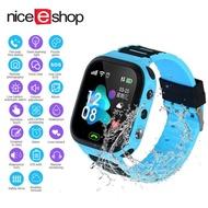 NiceEshop T18 เด็ก Smartwatch กันน้ำเด็กนาฬิกาโทรศัพท์อัจฉริยะ, เด็กสัญญาณกันขโมยแบบเรียลไทม์สมาร์ทวอท์ชนาฬิกาสมาร์ทวอทช์บอกตำแหน่งกล้องเกมแชทด้วยเสียงนาฬิกาปลุกชายและหญิง