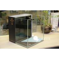 小郭水族- YiDing亿鼎-最新LOGO雕刻【45度 超白玻璃缸 背濾魚缸20cm/25cm/30cm 】立方缸