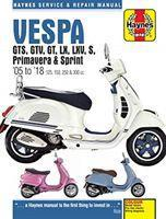 Vespa GTS125, 250 & 300ie, LX, S, Primavera 125 & 150 Service & Repair Manual (2005 to 2018)