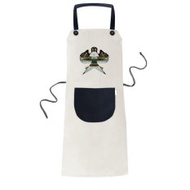 Kite Chinese Traditional Culture Pattern Cooking Kitchen Beige Adjustable Bib Apron Pocket Women Men Chef Gift - intl
