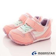 日本Moonstar機能童鞋HI系列2E機能款 2121S64櫻花粉(中小童段)