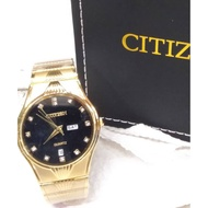 CITIZEN GOLDEN(DAY&DATE)-Watch Strap Color:GOLD