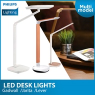 Philips LED Desk Lights Gadwall 66049 (White) / Jarita 66013 (Silver) Lever 72007 (Silver)
