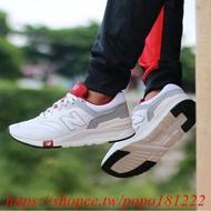 【琳琳】 NEW BALANCE Cm997hga 復古 慢跑鞋 男女鞋 麂皮 白灰紅色 997 微奶油底