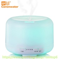 Coronwater 500ml Aroma Essential Oil Diffuser Ultrasonic Air Humidifier 7 Color Changing LED Lights